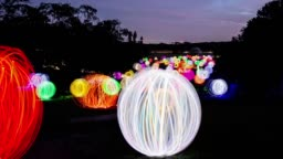 Sydneysiders Enjoy Valley Of Light Public Art Experience