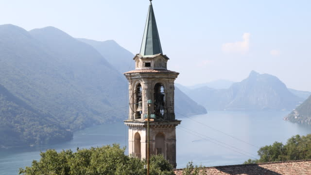 The Valsolda municipality at the Lugano lake between Italy and Switzerland