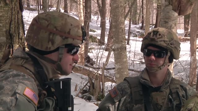 the vermont army national guard's 572nd brigade support battalion conducts spring training exercises at camp ethan allen training site - spring training stock videos & royalty-free footage