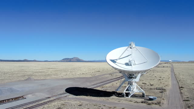the very large array in new mexico are giant radio telescopes used for radio astronomy that study celestial objects and radio waves from outer space - space and astronomy stock videos & royalty-free footage