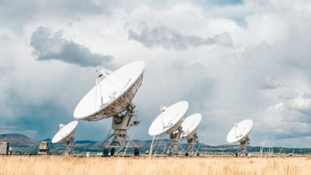 the very large array in new mexico - antenna aerial stock videos & royalty-free footage