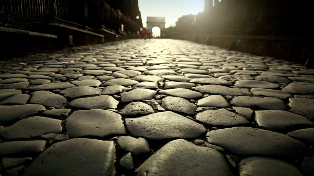 The Via Sacra by the Coliseum of Rome