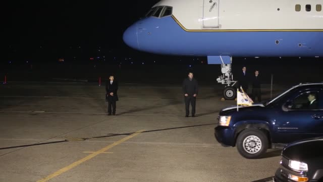 The Vice President lands at Osan Air Base Republic of Korea The trip is part of a sixday Asia tour The Vice President lands on the flightline of 51st...