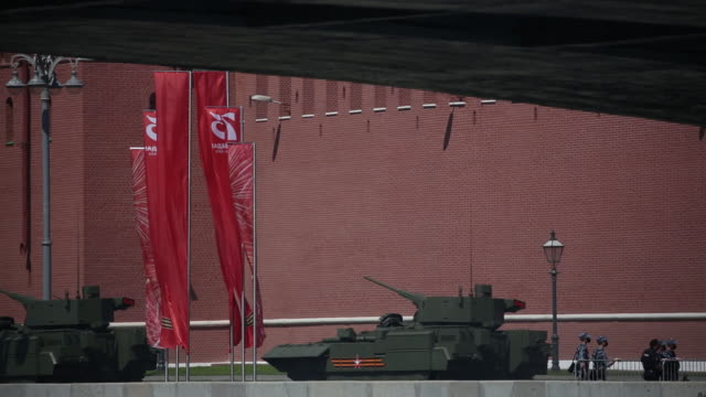 the victory day parade in moscow, russia, on wednesday, june 24, 2020. president vladimir putin is putting russia's military might on display... - russia stock videos & royalty-free footage