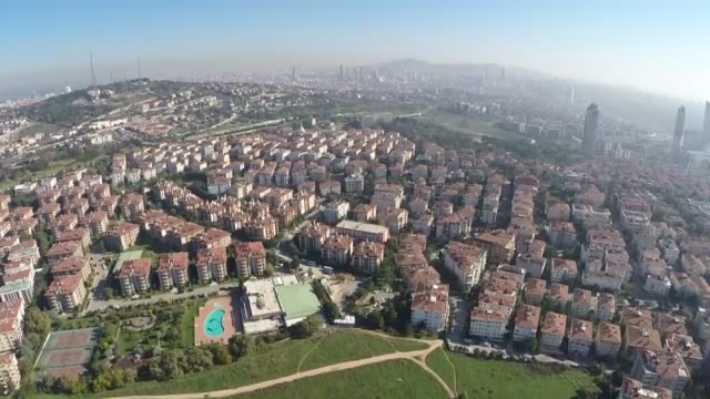 the video displays aerial view of validebag grove located in altunizade neighborhood of uskudar district in istanbul turkey on november 06 2014... - wildlife reserve stock videos & royalty-free footage