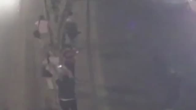 the video footage of a city surveillance camera on night of july 15 shows that citizens resists to armored vehicles and tanks by waving turkish flag... - staatsstreich stock-videos und b-roll-filmmaterial