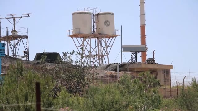 the video footaged from naqoura city of lebanon shows construction works those are being conducted by israeli army along the israellebanon border on... - hezbollah stock videos & royalty-free footage