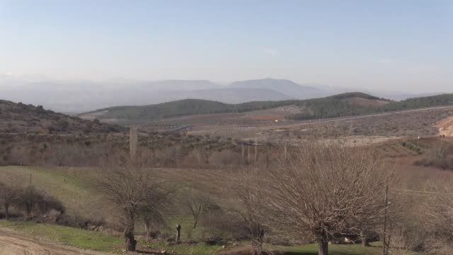 The video footaged from Turkey's Kilis province shows smoke rising as Turkish army hit PYD/PKK terror group's shelters in Afrin a district of Aleppo...
