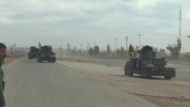 the video shows the ruined sadiye district after the clashes between iraqi army and islamic state of iraq and the levant in diyala,iraq on 24... - isil konflikt stock-videos und b-roll-filmmaterial