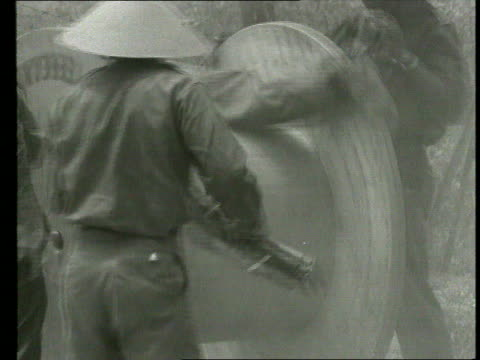 the vietnam collection 1 tx simulated prisoner of war camp torture / voxpops with draftees - torture stock videos & royalty-free footage