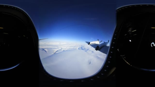 'The view from NASA's Operation IceBridge research aircraft off the northwest coast on March 30 2017 above Greenland NASA's Operation IceBridge has...