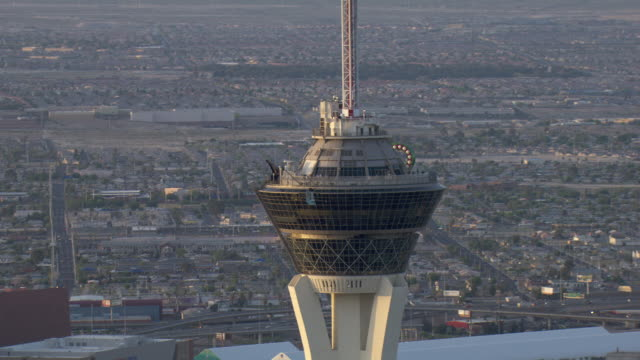 the view from the observation deck of the stratosphere in las vegas is spectacular. - stratosphere stock videos & royalty-free footage