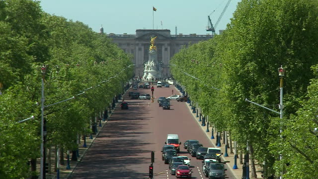 The view of Buckingham Palace from Admiralty Arch
