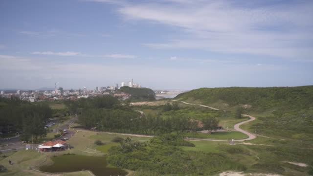 the view of parque da guarita, torres, southern brazil. - brasile meridionale video stock e b–roll