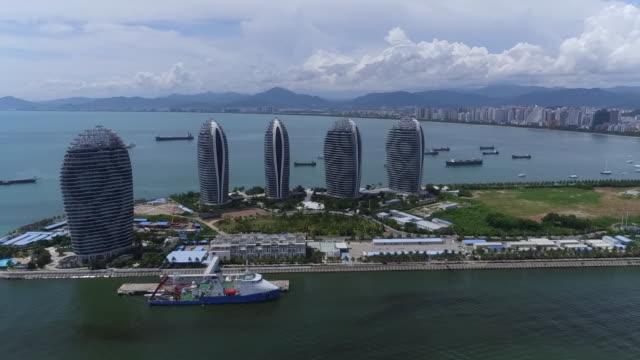 The view of Phoenix Island in Sanya city, Hainan, China