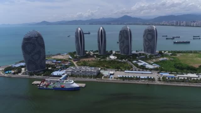 The view of Phoenix Island Resort in Sanya city, Hainan, China