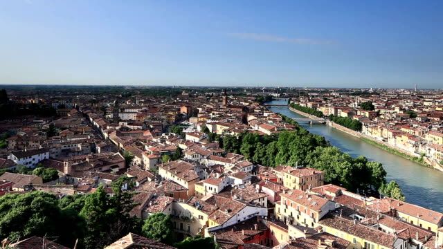 The view over Verona from Piazzale Castel San Pietro.