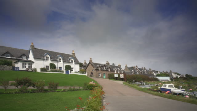 the village baile mòr, iona, scotland - scottish highlands stock videos & royalty-free footage