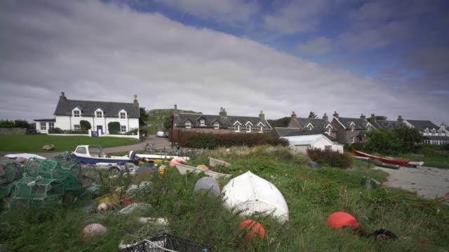the village baile mòr, iona, scotland - scottish highlands stock videos & royalty-free footage
