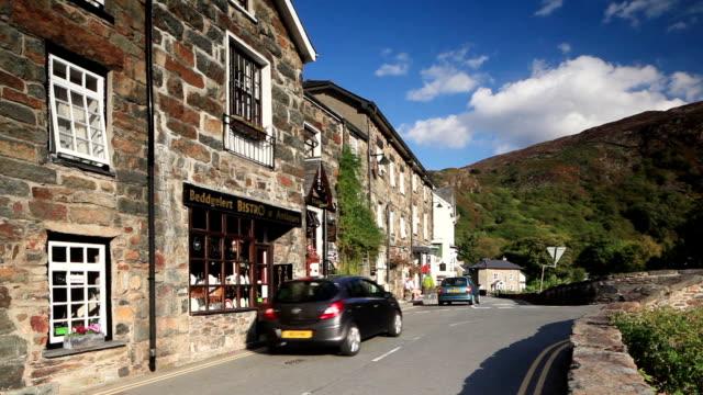 the village of beddgelert, gwynedd, wales. - wales stock videos & royalty-free footage