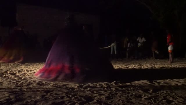 the village of grand popo, benin, africa; november 8, 2019; people are devoted to the worship ofzangbeto, traditional voodoo guardians of the night... - tradition stock videos & royalty-free footage