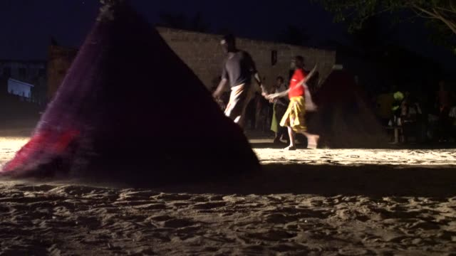 the village of grand popo, benin, africa; november 8, 2019; people are devoted to the worship ofzangbeto, traditional voodoo guardians of the night... - ceremony stock videos & royalty-free footage