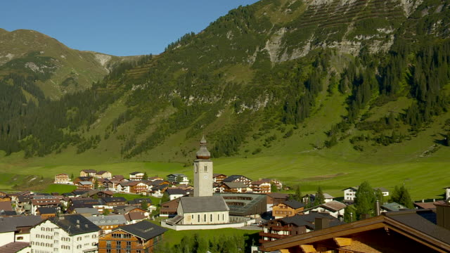 The village of Lech in Austria