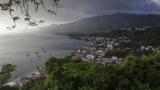 vidéos et rushes de the village of saint pierre on the island of martinique. - martinique