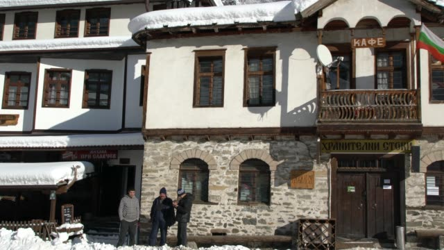 the village of shiroka laka (an architectural and folklore reserve) in rhodope mountains, bulgaria, covered by snow - pavel gospodinov stock videos & royalty-free footage