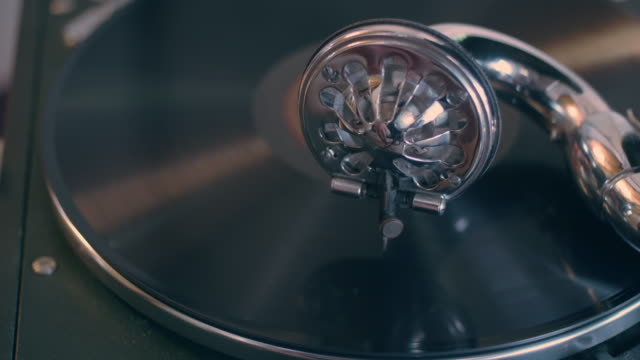 the vintage gramophone. close-up. - antique stock videos & royalty-free footage