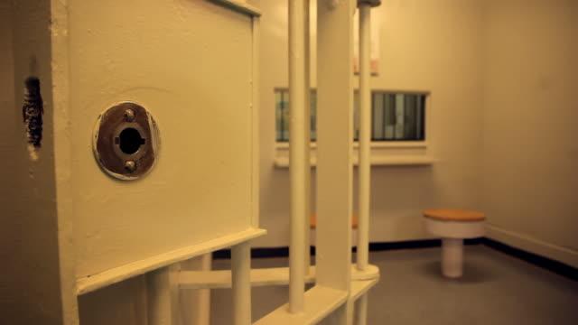 stockvideo's en b-roll-footage met the visiting room of a prison - gevangenis