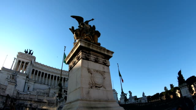 4 K ヴィットリオ ・ エマヌエーレ II 記念碑記念碑国立ヴィットリオ ・ エマヌエーレ 2 世やアルターレ ・ デッラ ・ パートリア ビデオ