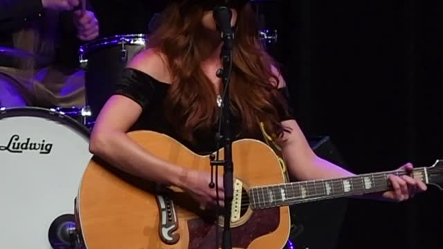 the voice contestant county music singer/songwriter savanna chestnut performs on stage at the historic granada theatre in emporia kansas, on june 11,... - real time footage stock videos & royalty-free footage