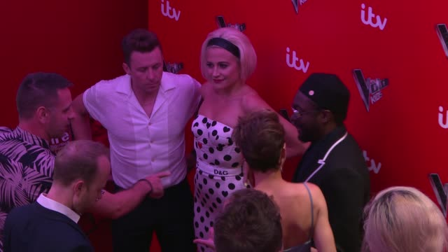 the voice kids uk second series launch madame tussauds london england london madame tussauds photography*** emma willis gvs / pixie lott gvs /... - madame tussauds stock videos & royalty-free footage