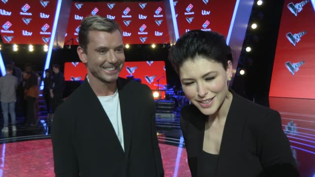 The Voice UK interviews with coaches finalists 2017 ENGLAND London INT Gavin Rossdale and Emma Willis interview SOT / Sir Tom Jones and Into the Ark...