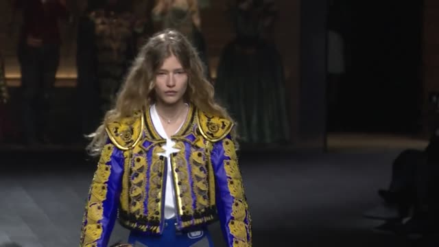 the vuitton catwalk show at the louvre in paris brings the autumn winter 2020/21 fashion week to a close - fashion collection stock videos & royalty-free footage