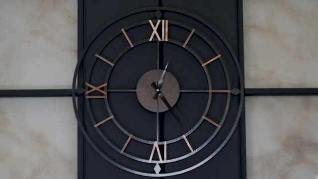 the wall clock. - roman numeral stock videos & royalty-free footage