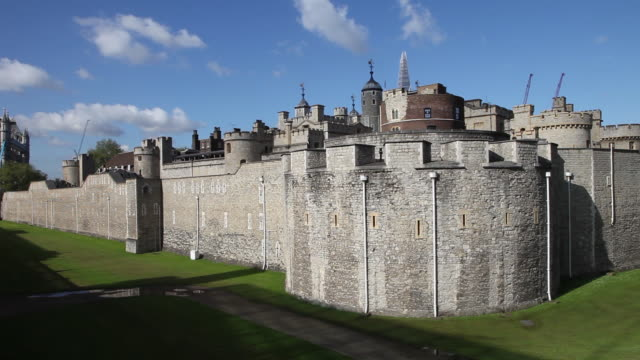 the walls of the tower of london, london - tower of london stock videos & royalty-free footage