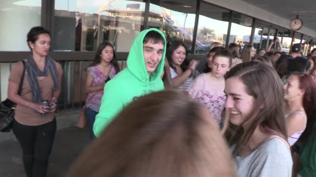 the wanted at mondrian los angeles in west hollywood, ca, on 04/28/12 - モンドリアンホテル点の映像素材/bロール