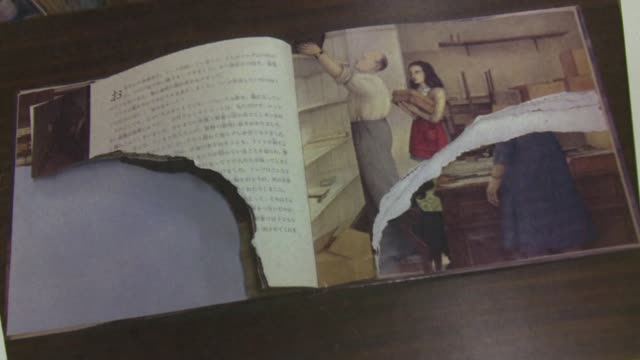 the wanton vandalism of hundreds of copies of anne frank's diaries held in tokyo libraries is uncharacteristic of japan according to a senior israeli... - diary stock videos & royalty-free footage