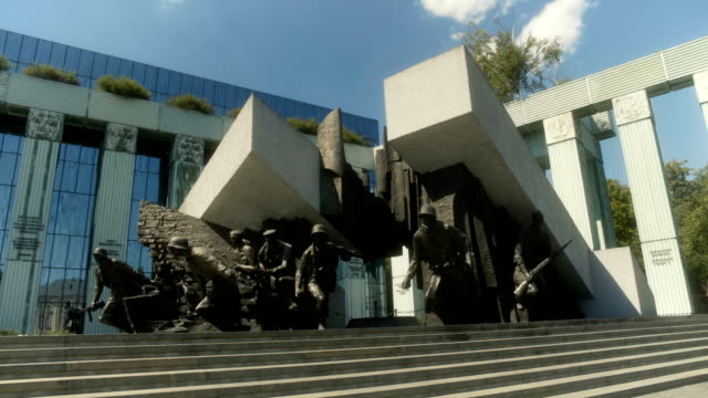 the warsaw uprising monument warsaw poland - monument stock videos & royalty-free footage