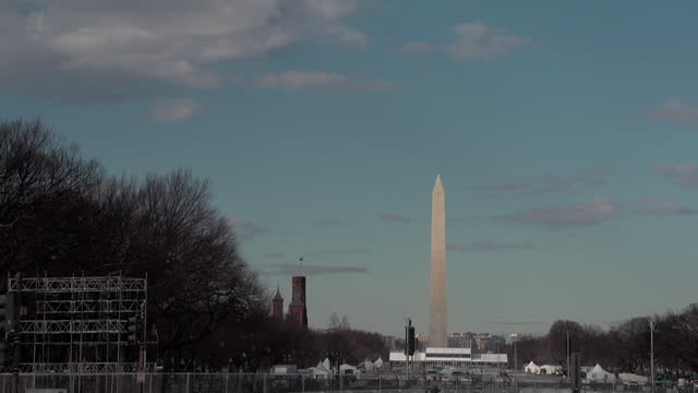 the washington monument in january 2017. - donald trump us president stock videos & royalty-free footage
