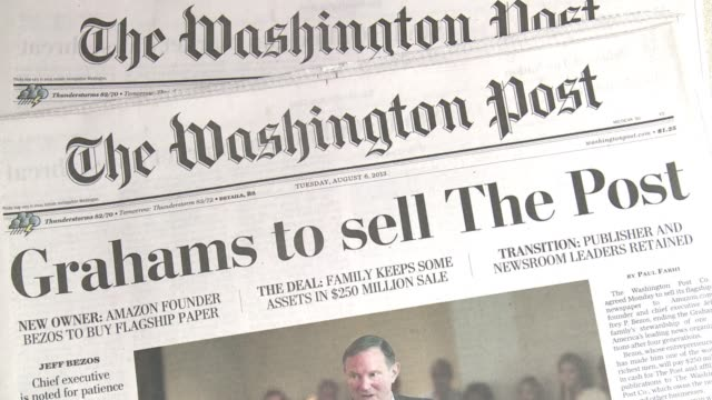 the washington post the legendary newspaper that broke the watergate scandal is being sold to amazon founder jeff bezos as it seeks to survive the... - watergate scandal stock videos & royalty-free footage