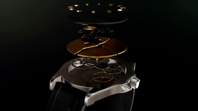 vídeos de stock, filmes e b-roll de a relógio - relógios de pulso