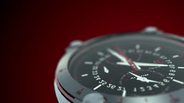 the watch (alpha channel) - wrist watch stock videos & royalty-free footage