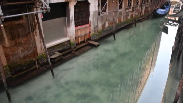 the water in the venice canals is becoming clearer as the city experiences a drop in tourism and reduction in canal traffic due to the health... - canal stock videos & royalty-free footage