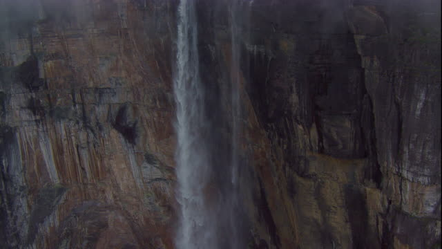 The water of Angel Falls plunges down Auyantepui. Available in HD.