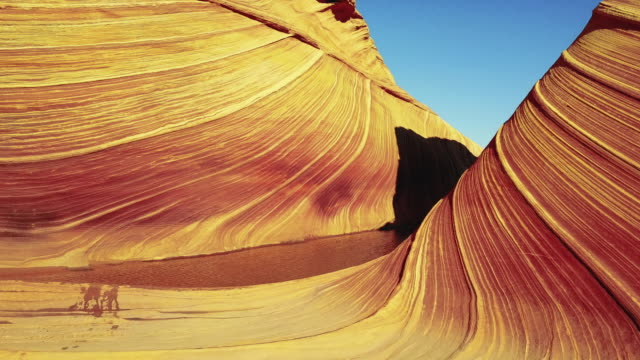 the wave in arizona - rock formation stock videos & royalty-free footage