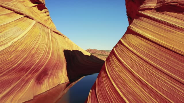 the wave in arizona - canyon stock videos & royalty-free footage