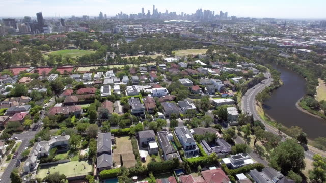 the wealthy suburb of toorak, melbourne australia. - residential district stock videos & royalty-free footage